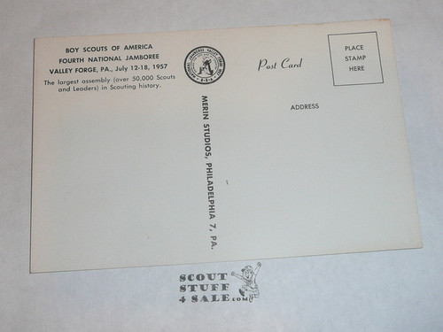 1957 National Jamboree Post Card, Official Post card, Constitution Hall