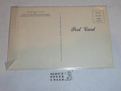"Region Seven Canoe Base Post card, ""Woodbadge Training"" Patrol"