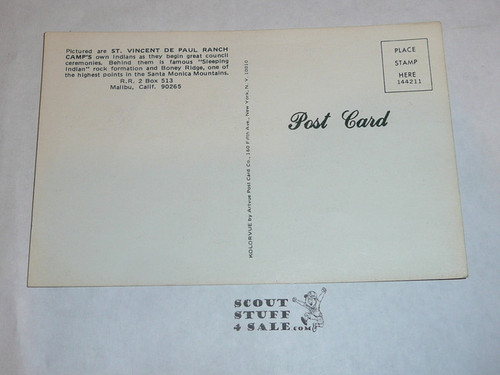St. Vincent De Paul Ranch Camps in Malibu Post card