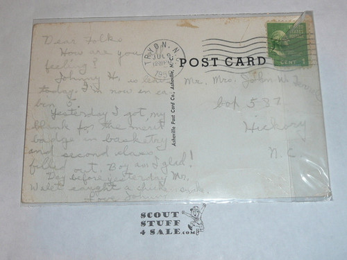 Piedmont Boy Scout Camp Scouts Swimming Post card, 1950