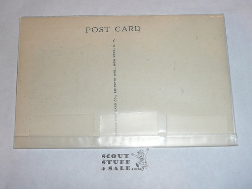 Treasure Island Scout Camp Formal Colors Post card, Artvue, 1930's