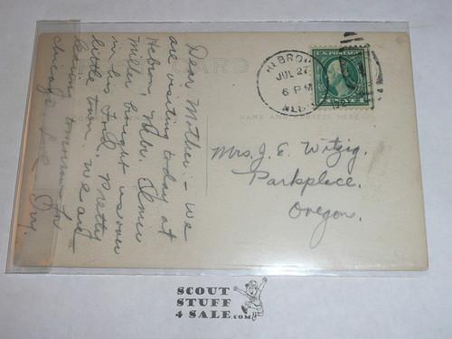 Photograph Post Card of Boy Scout Sod House in Nebraske, 1917