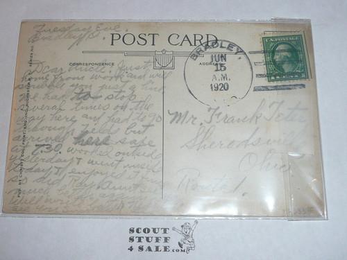 Patriotic Boy Scout Post Card, 1920