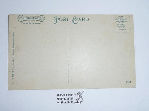 1914 Postcard Rustic Bridge on Seton Estate