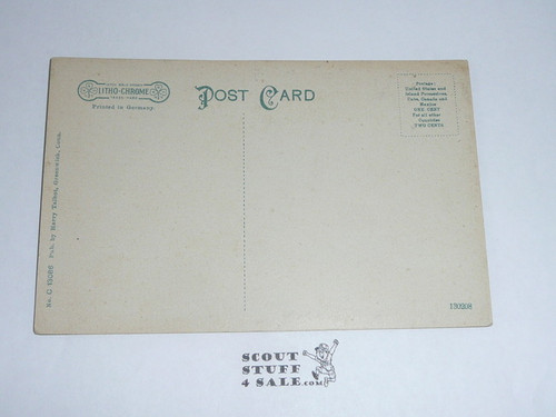 1914 Postcard Old Fashion Well on Seton Estate