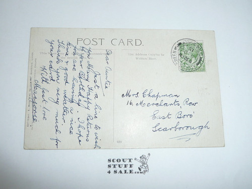 Teen's British Boy Scout Postcard, Britannia's Hope