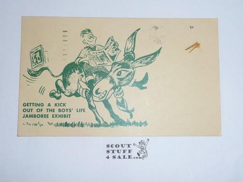 1960 National Jamboree Boys' Life Exhibit Postcard, With Jamboree Cancellation