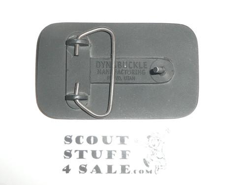 1980's Malibu Lodge Cast Brass Belt Buckle