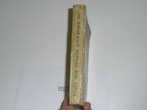 1916 The Woodcraft Manual for Girls of the Woodcraft League, Spine Wear #2, By Ernest Thompson Seton
