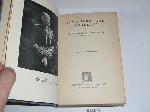 1934 Adventures and Accidents, By Lord Baden-Powell, First printing