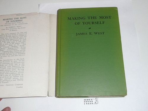 1927 Lone Scout of the Sky, By James E. West, First printing, published by the BSA
