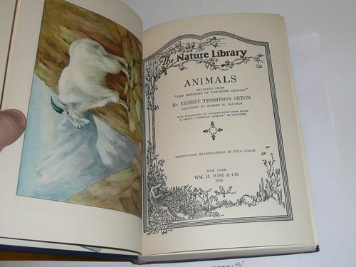 1930 The Nature Library - Animals, By Ernest Thompson Seton, lots of color pictures
