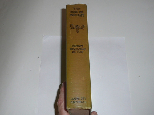 1921 The Book of Woodcraft, By Ernest Thompson Seton, spine discolored