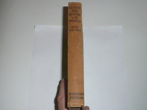 1935 Scouting Round the World, By Lord Baden-Powell, First printing, spine discolored