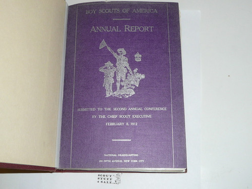 1912-1917 Boy Scouts of America Annual Reports to Congress Bound together, All in great condition because they were bound into a hardbound binding (1912, 1913, 1914, 1915, 1916 & 1917)