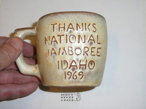1969 National Jamboree Frankoma Ceramic Coffee Mug, Tan