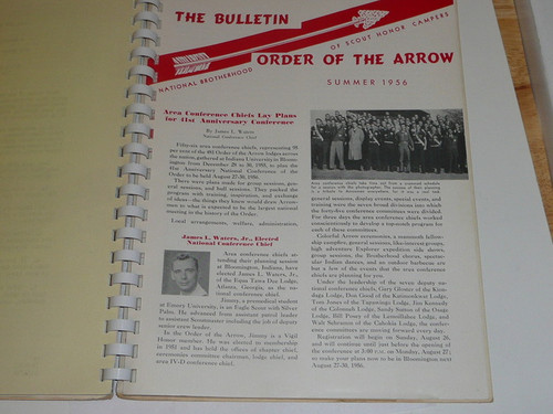 1956 Order of the Arrow Regional Training Course Workbook, lots of great information/data plus 1956 Summer & Winter National Bulletins AND National Accessory Catalog/order form