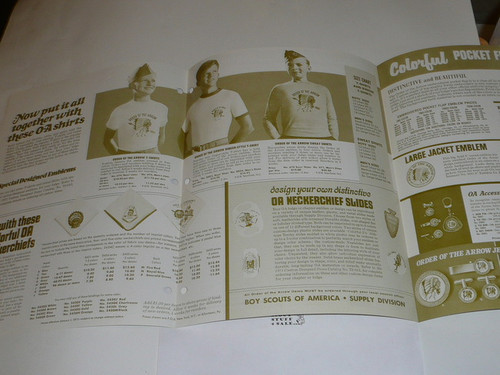 1971 Order of the Arrow Equipment and Accessories Catalog