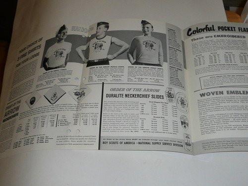 1966 Order of the Arrow Equipment and Accessories Catalog
