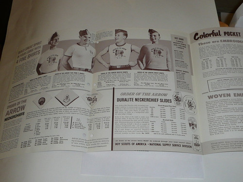 1967 Order of the Arrow Equipment and Accessories Catalog