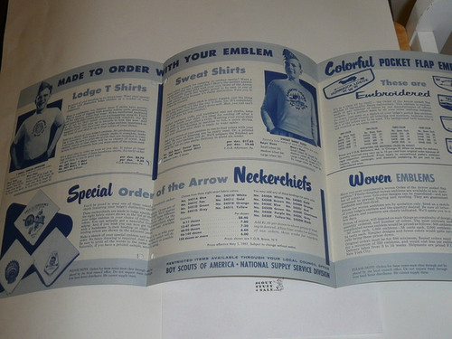 1961 Order of the Arrow Equipment and Accessories Catalog
