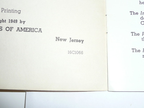 Vigil Ceremony Manual, Order of the Arrow, 1966, 10-66 Printing