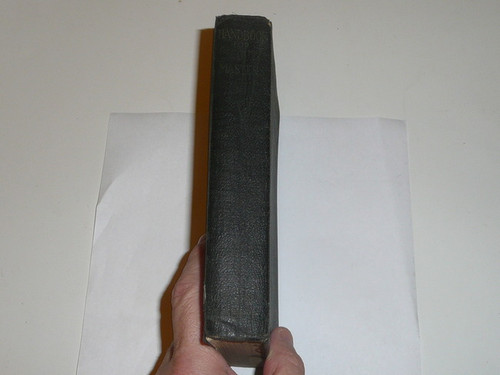 1920 Handbook For Scoutmasters, Second Edition, Second Printing, Very good Condition with a little spine wear, black cover