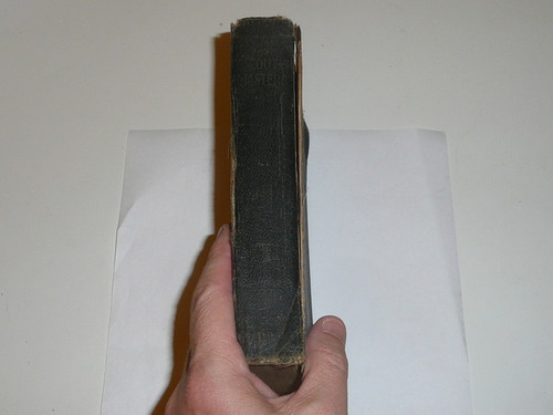 1920 Handbook For Scoutmasters, Second Edition, First Printing, Used Condition with cover separated from spine, black cover