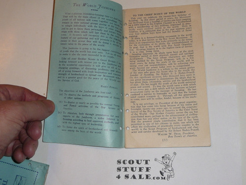 1929 World Jamboree Boy Scouts of America Contingent Guide Book, Punched for Lefax Field Book