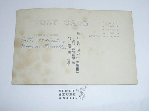 1924 World Jamboree Contingent Photo Postcard on the Leviathan Coming Home From The Jamboree