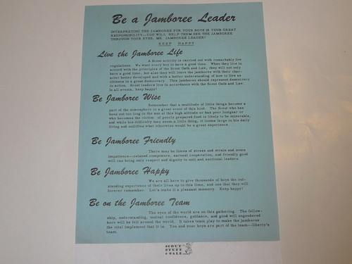 1960 National Jamboree Letter to Jamboree Scout Masters Welcoming them To Jamboree From Chief Scout Executive