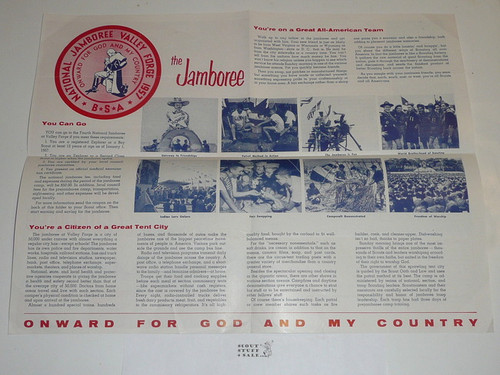 1957 National Jamboree Promotional Brochure #2