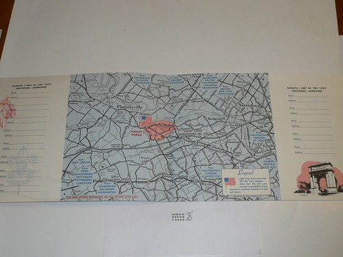 1957 National Jamboree Map and Who I Me