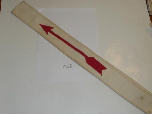 """1930's Linen Owasippe Lodge #7 Ordeal Order of the Arrow Sash, 29"""""""