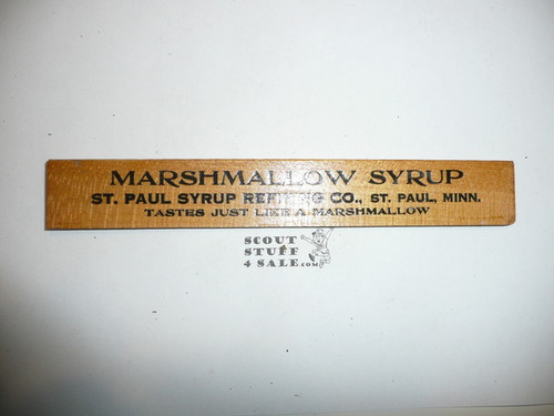 1930's Boy Scout Syrup Ruler, Saint Paul Syrup Refining Company