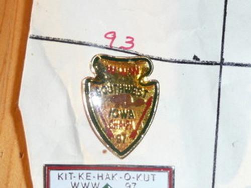 Cha-Pa O.A. Lodge #97 Arrowhead Shaped Pin - Scout