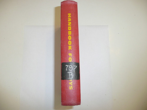 1948 Boy Scout Handbook, Fifth Edition, Rare Library Bound Edition, 1958 Prtg (12th), Used in Library