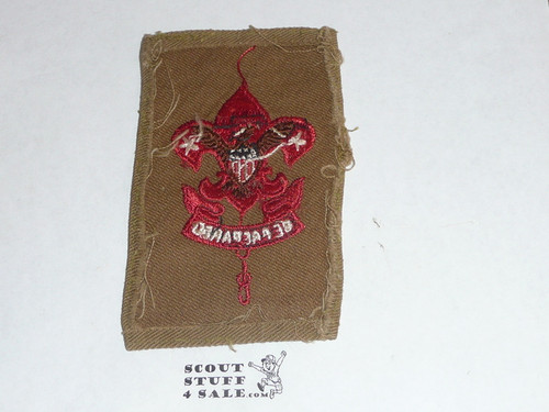 Assistant Scoutmaster Patch (ASM1), 1911-1920, lt use #2