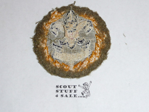 District Commissioner / Deputy Scout Commissioner Patch (DSC4 on Serge), 1939-1945, on Serge Wool, used