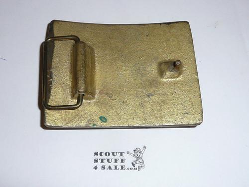 Wood Badge Heavy Cast Brass Belt Buckle