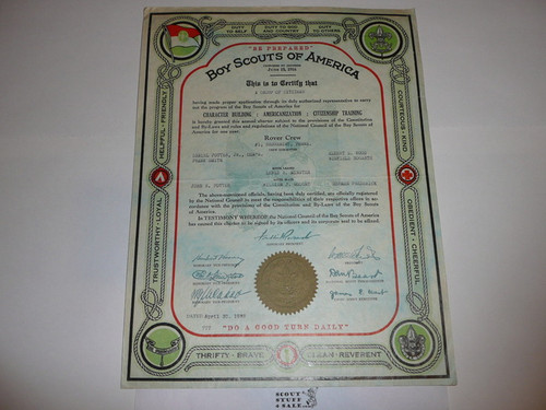 1939 Rover Scout Crew Charter, April