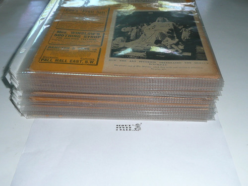 """1900 46 Issues of """"The Golden Penny, The War Illustrated, A Weekly Publication"""" Boer War, All in Individual Sleeves"""