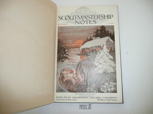 1925-1926 13 Issues of Scoutmastership Notes, Home Study Department Columbia University, Bound Personal Copy of E.S. Martin December 1925-December 1926