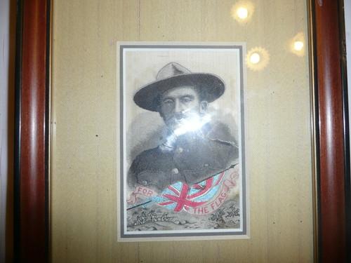 1900 Nicely Framed Baden Powell Woven Silk STEVENGRAPH Tribute