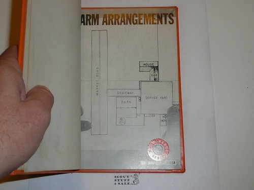 Farm Arrangement Library Bound Merit Badge Pamphlet, Type 7, Full Picture, 2-72 Printing