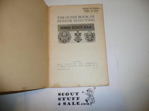 1938 The Guidebook of Senior Scouting, 1-38 Printing