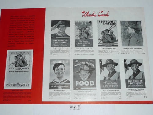 """1930's BSA Supply """"Scouting Pictorial Publicity Helps"""" Catalog"""