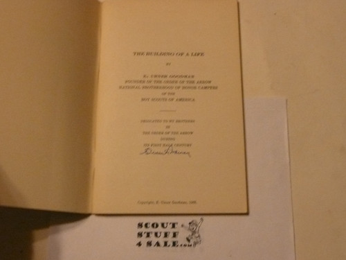1965 The Building of a Life by E. Urner Goodman, Signed By Goodman