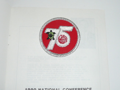 1990 NOAC Program, Includes 75th Anniversary Patch