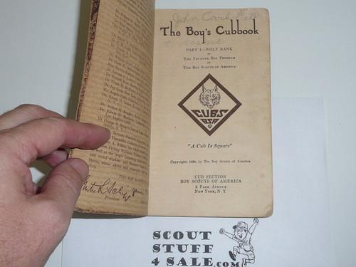 1930 Wolf Cub Scout Handbook #2, 1st Printing